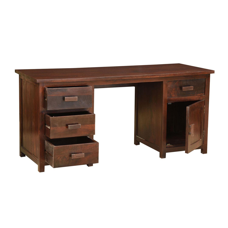 Mesa de escritorio Mangat de Homescapes, de madera de mango, color ...