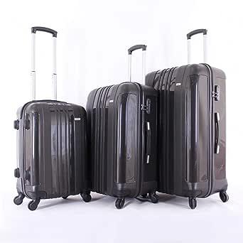 جيوردانو طقم حقائب سفر بعجلات,  3 قطع مع 4 عجلات, رمادي - 25-05112