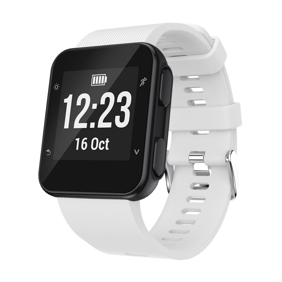 交換用リストバンド時計バンド手首ストラップSilicagelソフトバンドストラップfor Garmin Forerunner 35 Watch 230MM ホワイト ホワイト ホワイト B0734NZ1K8