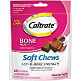 Caltrate 600+D3, Calcium and Vitamin D3 Supplement Soft Chews, 600 mg (Chocolate Truffle Flavor, 60 Count)