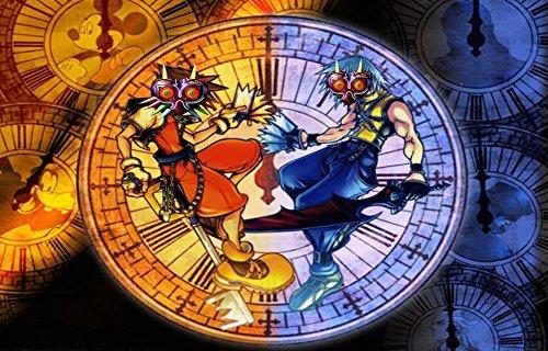 Kingdom Hearts Boy 1 2 Game Poster family silk wall print 36