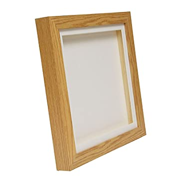 Oak Effect 3D Deep Box Picture Frame Display Memory Box For Medals ...