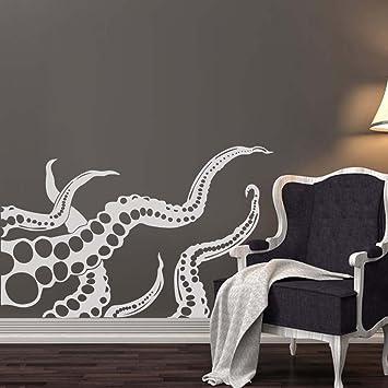 Battoo octopus wall decal tentacles sprut kraken ocean sea animal wall decals vinyl sticker interior home