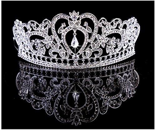 Crystal Bridal Wedding Prom Tiara Rhinestone Crystal Crown,Silver_1,One Size ()