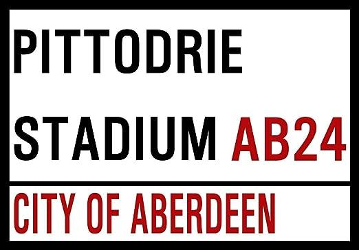 HNNT Aberdeen - Letrero de Metal para fútbol (Exterior o Interior ...