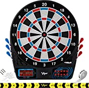 Viper 777 Electronic Dartboard, Easy To Use Button Interface, Red White And Blue Segments, Double Height Crick
