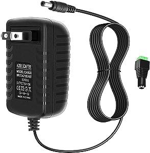 ALITOVE 5V 3A 15W AC 100V~240V to DC Power Supply Adapter Converter 5.5x2.1mm Plug for WS2812B WS2811 WS2801 SK6812 LED Pixel Strip Light CCTV Camera Security System