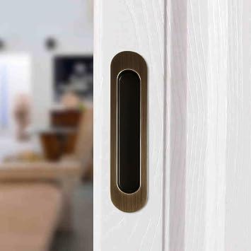 ccjh Invisible tirador de puerta para puerta de madera granero ...
