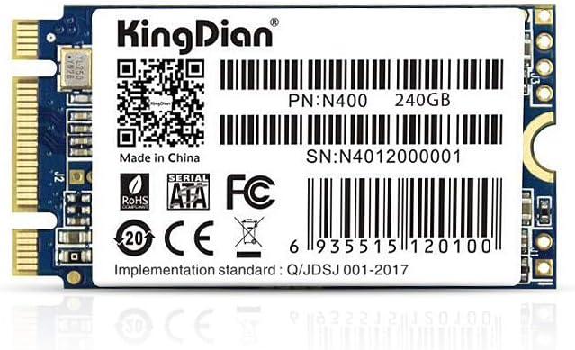 KingDian M.2 NGFF SSD 120GB 240GB 512GB 1TB Solid State Drive Disk 2242 for Desktop PCs and MacPro (240GB)