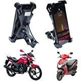 Blackcat 360 Degree Rotating Mobile Charger with Holder for Bike Handle (MCH SP BIKE)