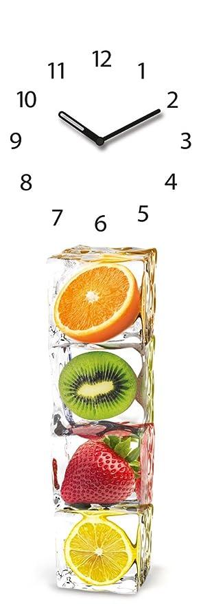 Amazon.de: Wanduhr aus Glas für die Küche, Ice Cube Clock, Eiswürfel ...