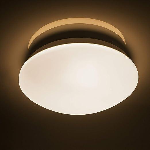 Lineway Plafón con Sensor de Movimiento LED, Baño Lámpara de techo ...
