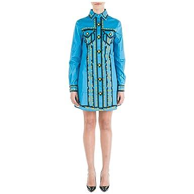 purchase cheap 1790d f77b6 Moschino Pixel Vestito Corto Donna Azzurro: Amazon.it ...