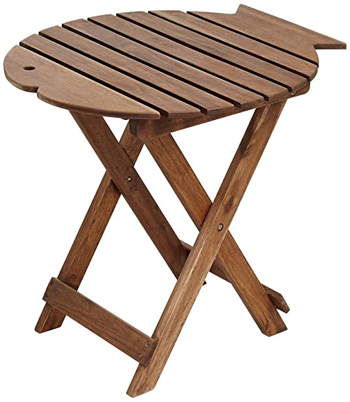 Monterey Fish Natural Wood Outdoor Folding Table