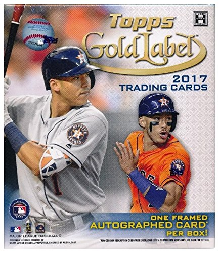 2017 Topps Gold Label Baseball Factory Sealed HOBBY Box with Framed Autograph Card & 4 Parallels! Look for Rookies & Autographs of Aaron Judge, Cody Bellinger, Andrew Benintendi & Many More! (Labels Baseball)