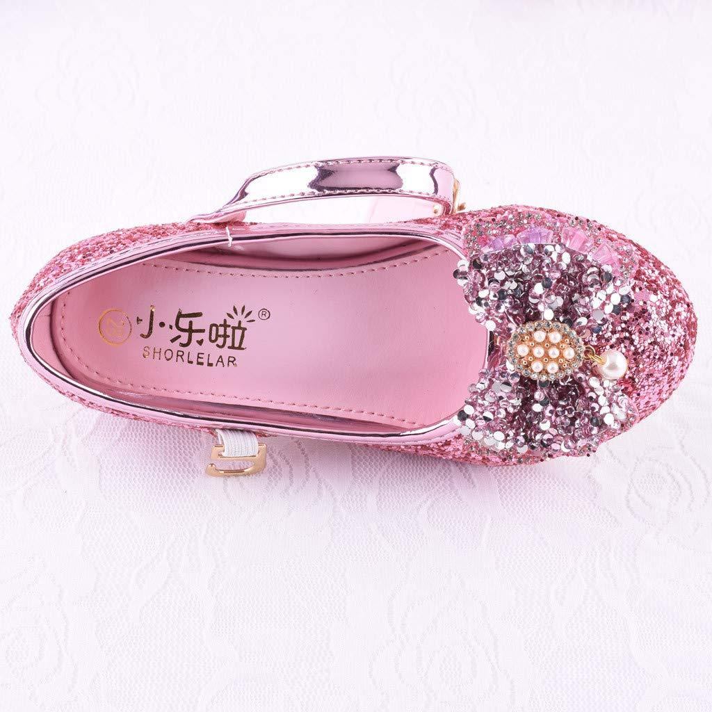 Amazon.com: AliveGOT Kids Girls Mary Jane Wedding Party Shoes Glitter Bridesmaids Low Heels Princess Dress Shoes: Clothing
