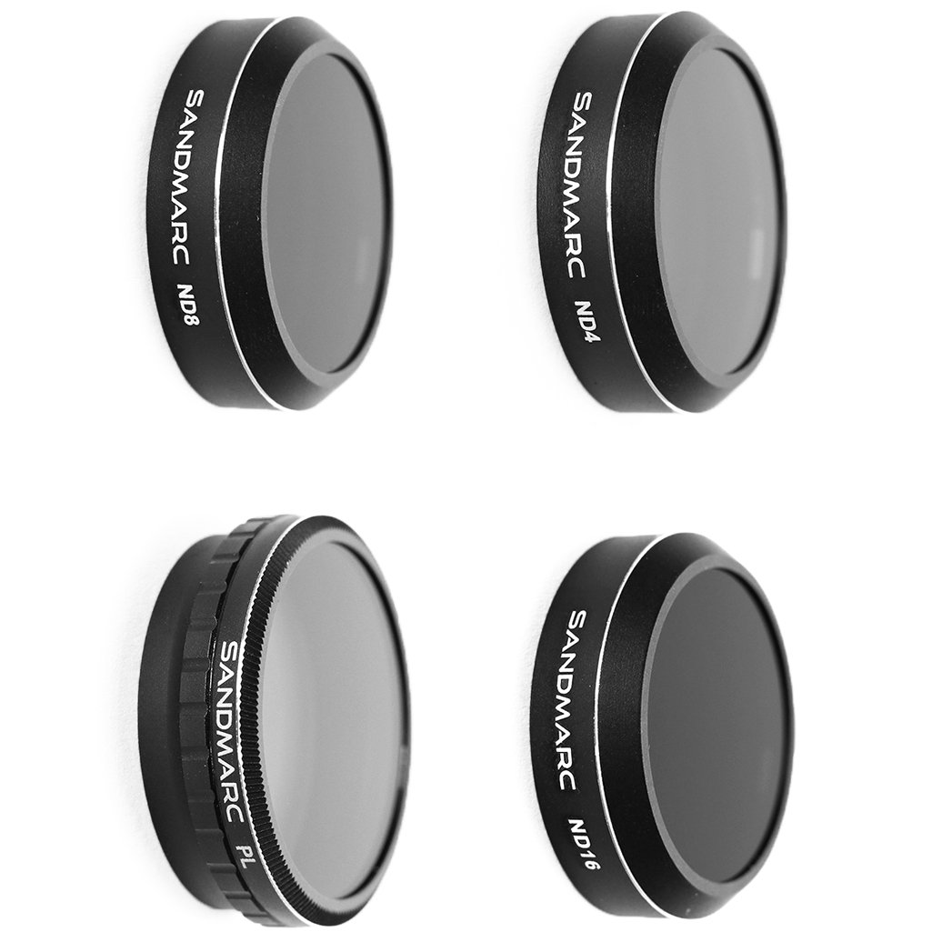 SANDMARC Aerial Filters for DJI Phantom 4 Pro Only - ND4, ND8, ND16 and Polarizer Filter Set