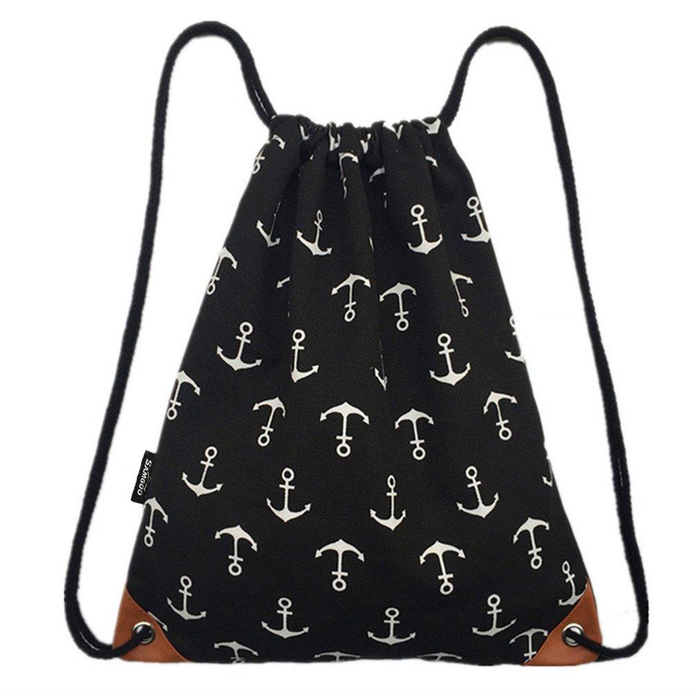 Foldable Storage Bags Honey Waterproof Drawstring Backpack Cinch Sack String Bag Gym Tote School Sport Packs
