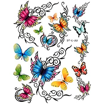 Temporary butterfly tattoos free shipping for Fake tattoos amazon