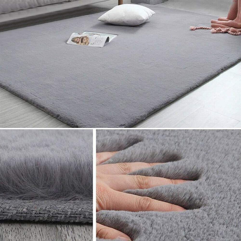 Inmozata Bedside Carpet Area Rug Fuffy Rug Sheepskin Rugs For Living Room Bedroom Sofa Floor 120x160cm Light Grey Amazon Co Uk Kitchen Home