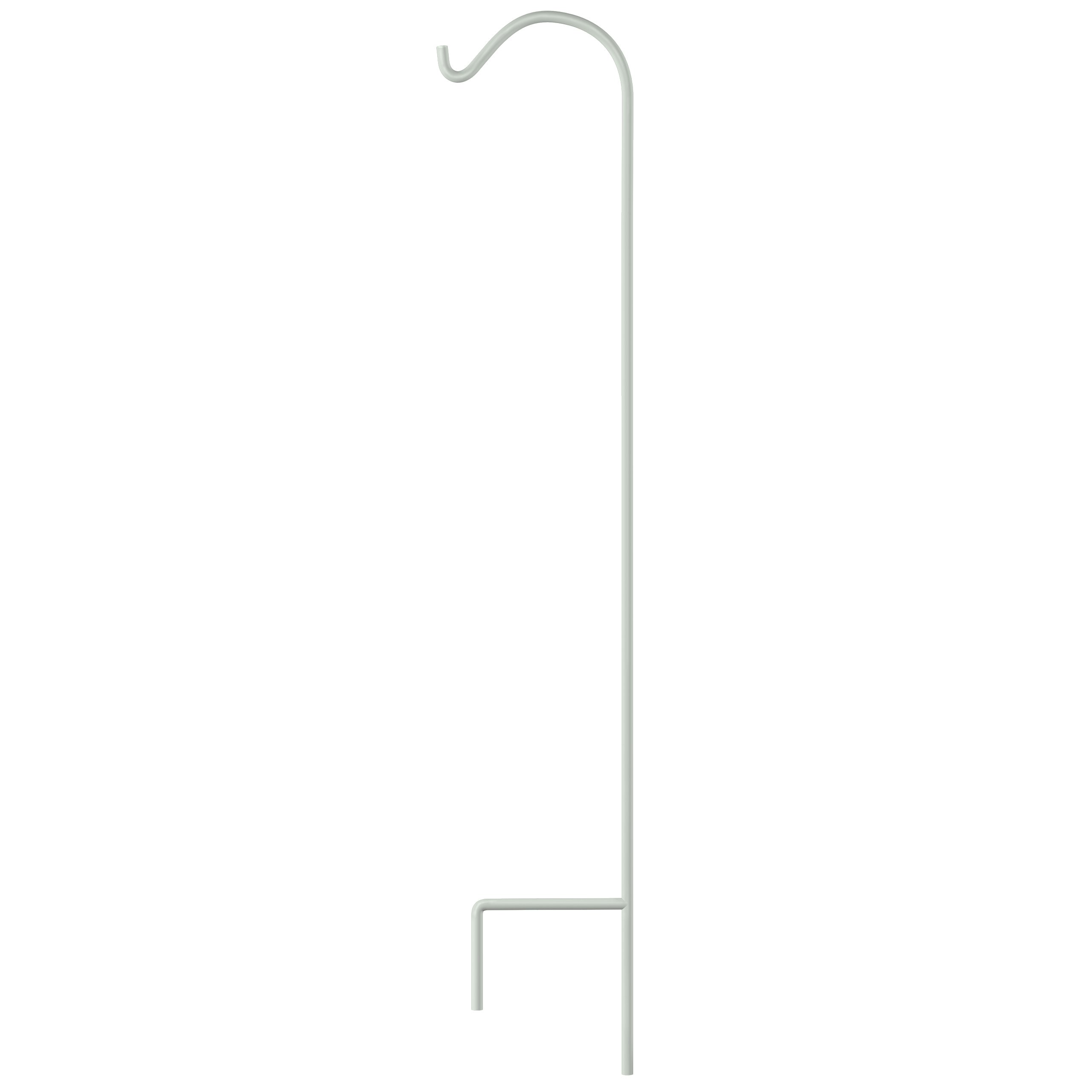 GrayBunny GB-6821 Shepherd Hook, 65 Inch, White, Premium Extra Thick 1/2 Inch Diameter Rust Resistant Steel Hooks For Hanging Planters, Bird Feeders, Mason Jars, Lanterns and More!