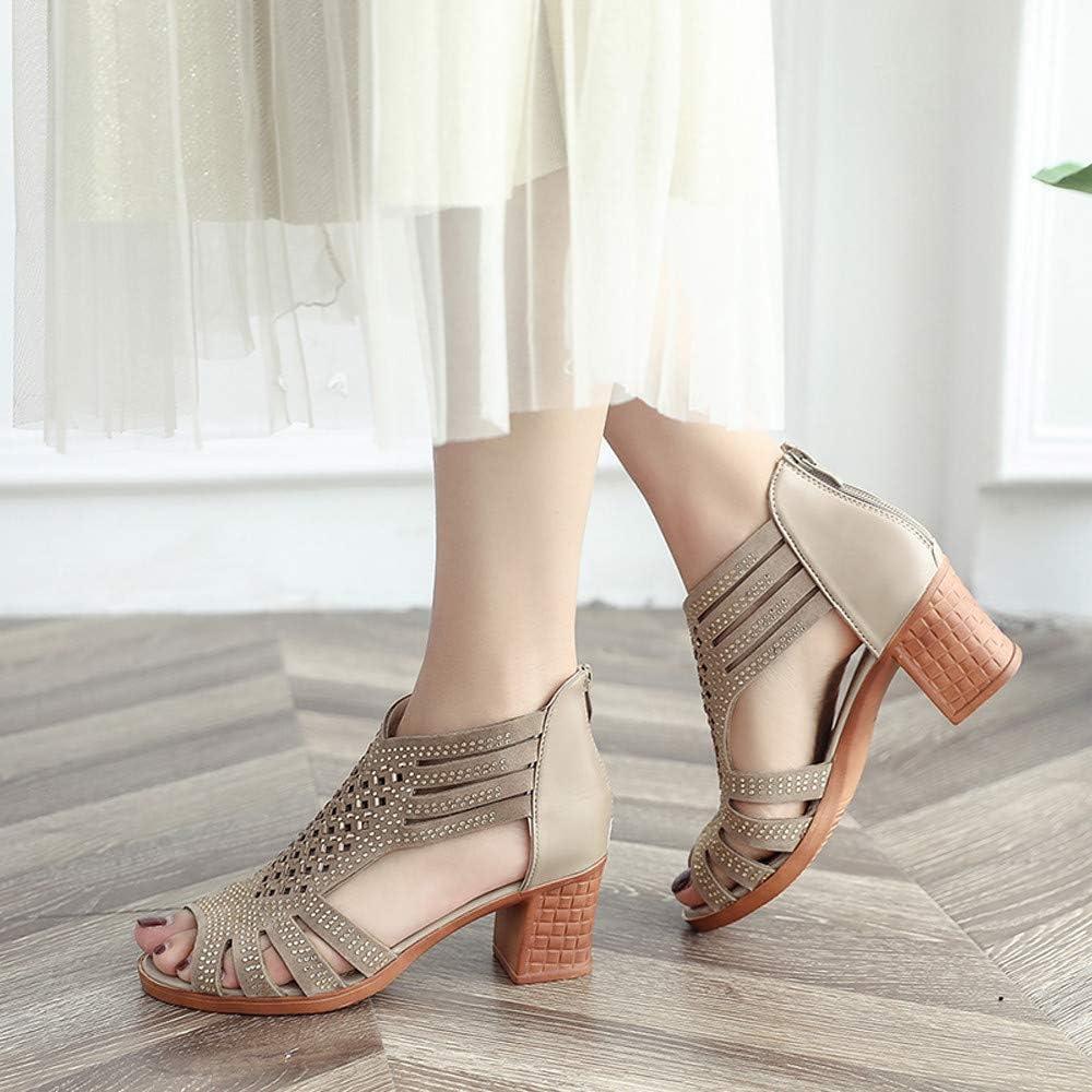 Kinlene Cristal Femmes Creux Peep Toe Sandales CompenséEs Chaussures à Talons Hauts Bordures De Poisson Creux en Strass CompenséEs avec des Sandales à Talons à Talons Hauts Or