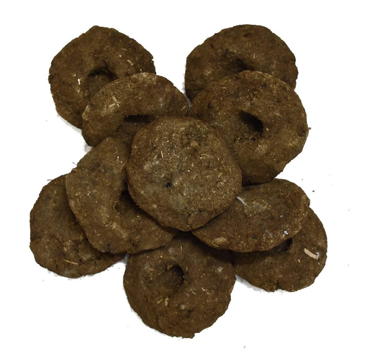 VRINDAVANBAZAAR.COM Gobar upla / 100% Cow Dung Cake, Completely Dry for hawan/puja/Rituals (500) by VRINDAVANBAZAAR.COM