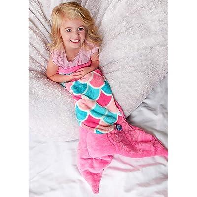 Fin Fun Mermaid Tail Blanket for Girls - Cuddle Tail Slumber Bag (Pink Dream, Kids): Home & Kitchen