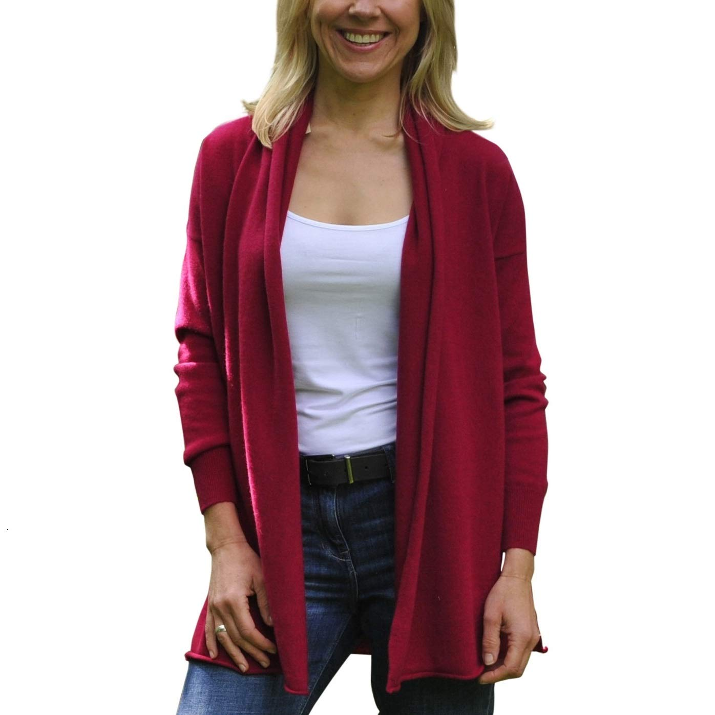 Misty Cashmere Women s Long Cashmere Cardigan  Amazon.co.uk  Clothing 86f7075d8