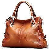TOP-BAG Exquisite Women Ladies' Genuine Leather Tote Satchel Shoulder Handbag, SF0951