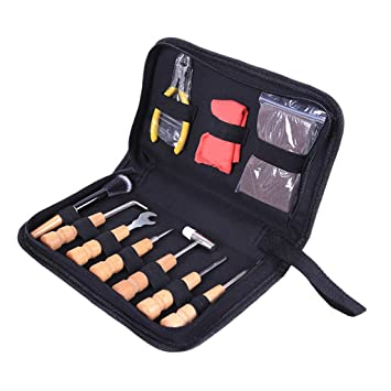 TOOGOO: Juego de 11 piezas de herramientas de reparación para guitarra, ukelelele, bajo
