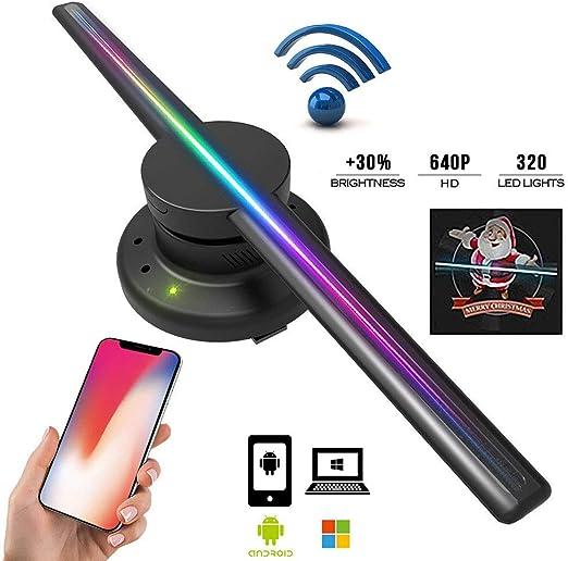 XIAYU Proyector holográfico 3D, Pantalla publicitaria holográfica ...