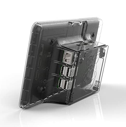 Black RS Raspberry Pi 7-Inch LCD Touch Screen Case