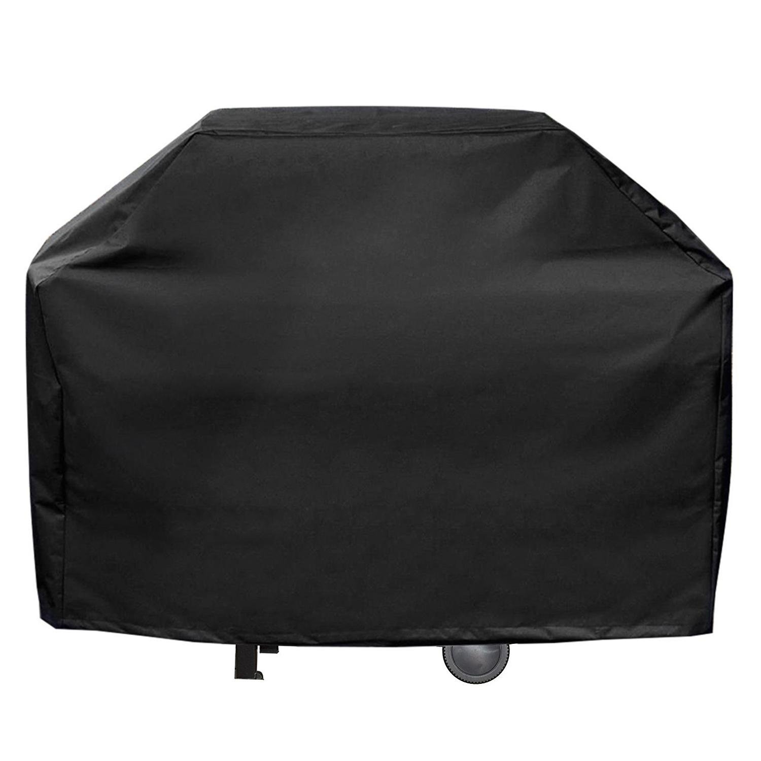Aolvo Gas BBQ Grill Covers Heavy Duty Waterproof 60 Inch Extra Large Grill Cover for Weber, Char Broil, Brinkmann ,Holland and Jenn Air - Black