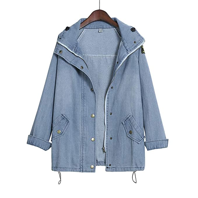 Kulywon Winter Women Warm Collar Hooded Coat Jacket Denim ...