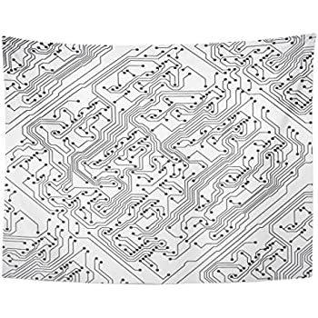 Amazon Com Emvency Tapestry Pattern Circuit Board Computer Wire
