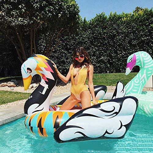 Übergroße aufblasbare schwan schwimmende reihe Aufblasbare Spielzeuge, pvc wasser montieren flamingo schwimmendes bett Aufblasbarer Schwimmring, pool spielzeug -190  190  130 cm A