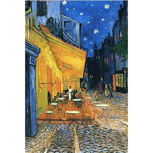 Grafika Kids Puzzle 100 pièces - Vincent Van Gogh : Terrasse de Café sur la Place du Forum, 1888