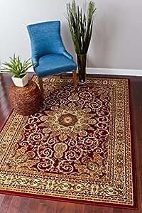 burgundy green beige black beige 5x7 5 39 2x7 39 3 isfahan turkish area rug oriental. Black Bedroom Furniture Sets. Home Design Ideas