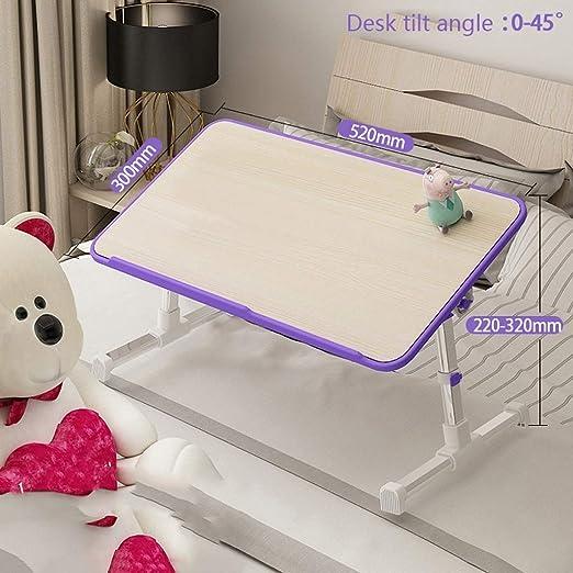 Portátil ajustable Mesa de cama, mini mesa plegable plegable, se ...