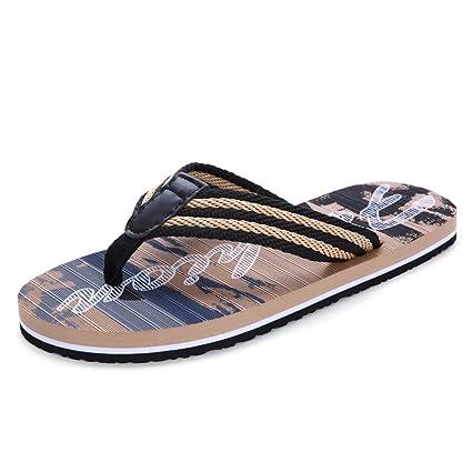 CKH Chanclas para Hombres Verano Sandalias Antideslizantes al Aire Libre Chanclas Zapatillas Moda para Hombres Casual