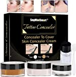 Tattoo Concealer,Scar Concealer,Makeup Concealer,Cover Tattoo,Birthmarks/Vitiligo, Waterproof Concealer,Professional Waterproof Tattoos Cover Up