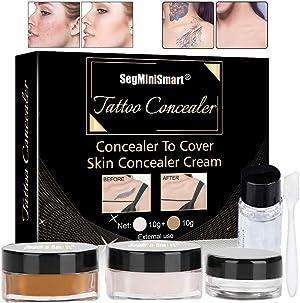 Tattoo Concealer,Scar Concealer,Makeup Concealer,Cover Tattoo,Birthmarks/Vitiligo, Waterproof Concealer,Professional Waterproof Tattoos Cover Up Makeup Concealer Set