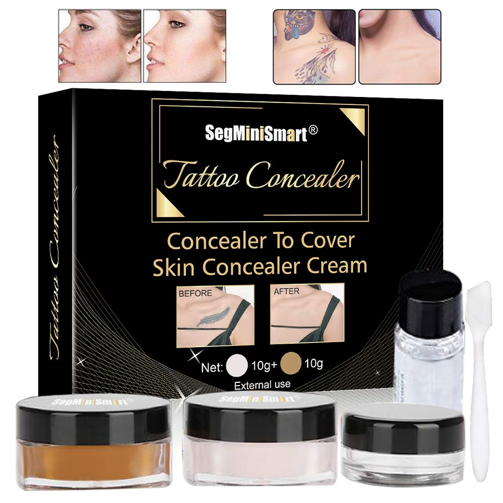 Tattoo Concealer,Scar Concealer,Makeup Concealer,Cover Tattoo,Birthmarks/Vitiligo, Waterproof Concealer, Professional Waterproof Tattoos Cover Up Makeup Concealer Set