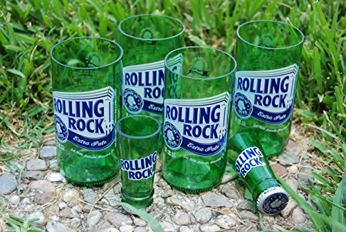 set-of-4-upcycled-rolling-rock-glasses-and-2-shot-glasses