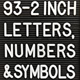 2 Inch Letters - Letter Board (93 LETTERS AND SYMBOLS ONLY) Changeable letters compatible with most felt letter boards