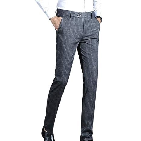SZJY Pantalones de Traje Casual de Primavera y otoño para ...