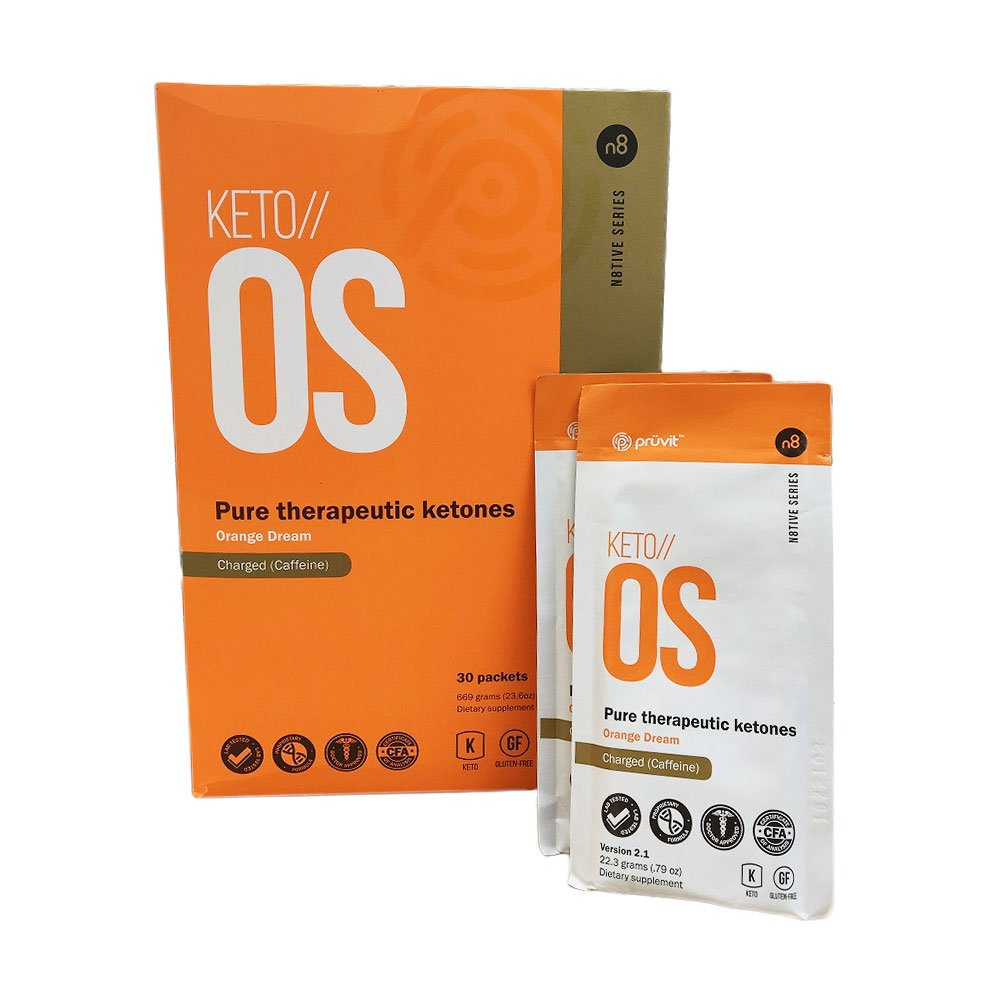 KETO//OS Orange Dream 2.1 CHARGED, BHB Salts Ketogenic Supplement - Beta Hydroxybutyrates Exogenous Ketones for Fat Loss, Workout Energy Boost and Weight Management through Fast Ketosis, 30 Sachets