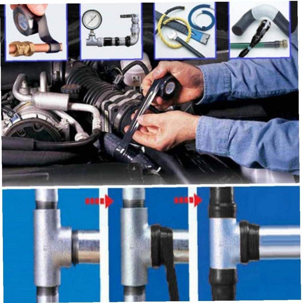 2.5cm Super Strong arr/êt Fibre de Bande imperm/éable /à leau Fuites Seal Repair Performance Ruban Auto Fix Ruban Ruban adh/ésif Angoter 152