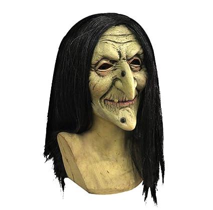 WFTD Máscara De Silicona De Bruja De Halloween, Máscara De Bruja De Terror Máscara De